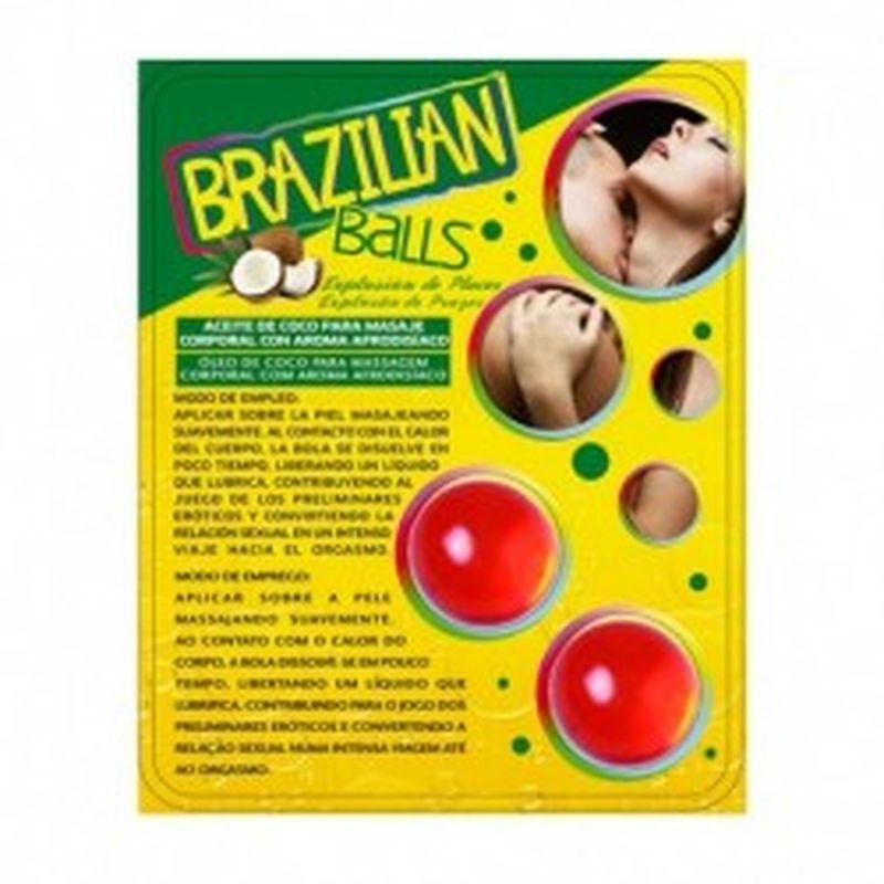 SET 2 BRAZILIAN BALLS CON AROMA DE FRUTAS