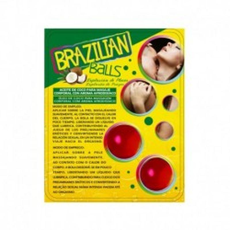 SET 2 BRAZILIAN BALLS CON AROMA DE FRUTAS - FRUTAS DEL BOSQUE
