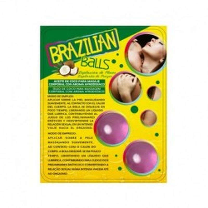 SET 2 BRAZILIAN BALLS CON AROMA DE FRUTAS - UVA